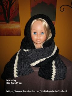 Kapuzen Schal  ( mit oder ohne Ohren ) von Die Sandfrau auf DaWanda.com