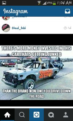♥ Demolition Derby Cars, Dirt Track Racing, Way Of Life, Empty, Passion, Trucks, Goals, Wallet, Signs