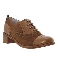 DUNE Lanelle leather brogues (Tan-suede
