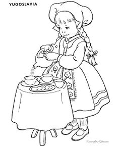 german children coloring pages - photo#39