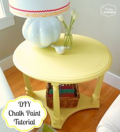 DIY Chalk Paint Tutorial at thehappyhousie Very detailed of how to make the paint, apply it, distress furniture and seal it with wax paste