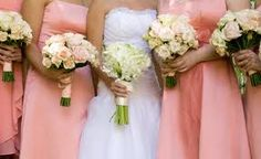 coral bridesmaid dresses (google)