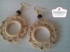 CREAZIONI ALL' UNCINETTO ** ORECCHINI BRACCIALI E CIONDOLI ** SCEGLI PER TUTORIAL EARRINGS CROCHET - YouTube