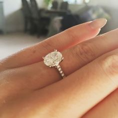 My gorgeous 1.4 oval cut engagement ring