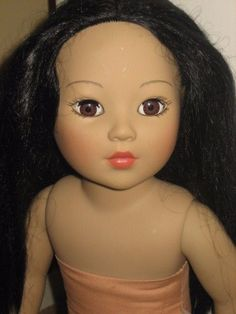"Madame Alexander 18"" Doll with Black Hair, brown eyes, dark skin Beautiful!  #Doll"