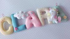 Unicorn Felt Name Banner, Personalised name nursery decor , Unicorn Nursery, Pastel Nursery Sign Felt Name Banner, Name Banners, Nursery Signs, Nursery Decor, Pastel Nursery, Baby Mine, Tropical Party, All The Colors, Wool Felt