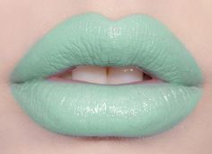 Mint to Be: Pastel mint-green lipstick For taking pictures...maybe even a special event or formal.