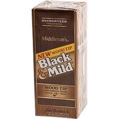Black & Mild Wood Tip Cigars Box