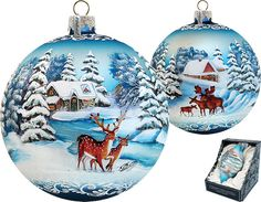 Cozy Cottage Ornament; Handcrafted Old World Christmas Limited Edition Gallery Collection for the Tree. (73812)