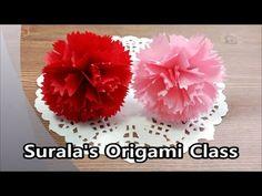 Origami - Carnation / 종이접기 - 카테이션 (어버이날, 스승의날) - YouTube