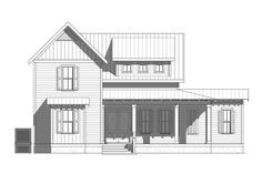 Leadenwah Tide - Coastal Home Plans Farmhouse style elevated house perfect for your coastal, lake or beach lot. Coastal House Plans, Coastal Homes, Cottage Style, Farmhouse Style, Elevated House Plans, Porch Interior, Corrugated Roofing, Vintage House Plans, Fibreglass Roof