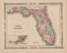 Best Florida Antique Maps Images On Pinterest Antique Maps Old - Decorative maps for sale