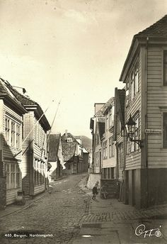 12th Century, The St, Capital City, Bergen, West Coast, Norway, Medieval, Survival, Street View