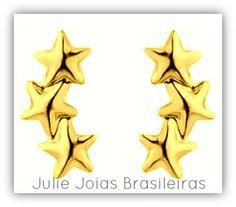 Brincos em ouro 750/18k (750/18k gold earrings)