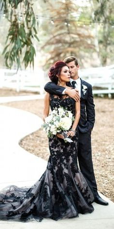 black colour wedding dresses 6