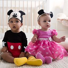 Minnie Mouse Costume Bodysuit for Baby - Pink - Personalizable Custom Baby Gifts, Personalized Baby Gifts, Baby 2 Announcement, Mickey Mouse Costume, Costume Shop, Baby Sprinkle, 2nd Baby, Disney Merchandise, Baby Costumes