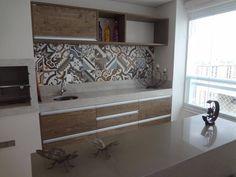 Decoração Criativa - ideias criativas azulejo adesivo varanda gourmet claudia de freitas marques 59981