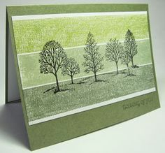 stamping up north: Masking tape technique, Stampin Up lovely as a tree