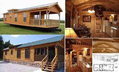 Gastineau Log Homes designed this beautiful oak log home on wheels that can be…