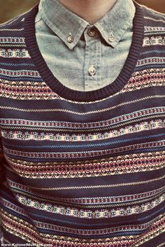 Patterned sweater .