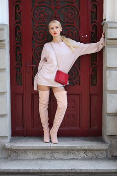 Get this look: http://lb.nu/look/8437741 More looks by Sinziana Maria Iacob: http://lb.nu/sinzianamariaiacob Items in this look: Joyas.Ro Boots, Wild Inga Bag, Cos Sweater #chic #romantic #street