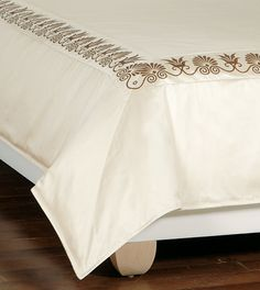 ANTHEMION IVORY/BROWN DUVET COVER