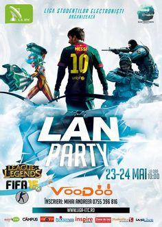 Cea mai intensă sesiune de jocuri – LAN Party 2015 24 Mai, Lan Party, Messi 10, Comic Books, Student, Club, Comics, Cover, Movie Posters