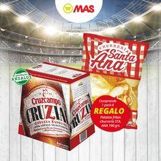 ¡Aquí tienes el pack perfecto para disfrutar del partido! Con un pack de 6 cervezas Cruzial, llévate un paquete de patatas fritas Santa Ana #Eurocopa #Oferta #Cerveza #ProductosAndaluces