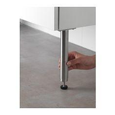 IKEA - GODMORGON, Bein, , Höhenverstellbare Fußkappen sorgen für Stabilität und schützen das Möbelstück vor Bodenfeuchtigkeit.