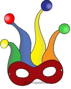 Maschere di carnevale da colorare Carnival Decorations, Felt Decorations, Summer Camp Crafts, Camping Crafts, Preschool Crafts, Crafts For Kids, Arts And Crafts, Mardi Gras Activities, Clown Crafts