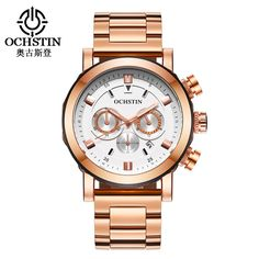 51.98$  Watch here - http://aliv6f.shopchina.info/go.php?t=32800584635 - Man Watches Gold Watch Men Luxury Fashion Mens Quartz Watch Auto Date Complete Calendar Mens Stainless Steel Watch Erkek Kol Saa 51.98$ #buychinaproducts