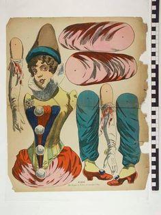 Victorian Paper Dolls, Vintage Paper Dolls, Paper Puppets, Paper Toys, Diy Paper, Paper Art, Paper Crafts, Moving Dolls, Toy Theatre