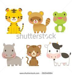"Cute animal illustrations ""6 animals"""