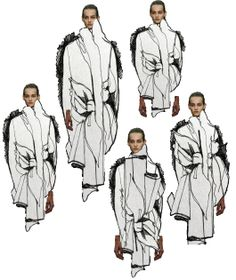Fashion Sketchbook - fashion design drawings; creative fashion collage; fashion illustration; fashion portfolio layout // Connie Blackaller