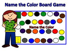 Color Board Game from FunTeach on TeachersNotebook.com -  (1 page)  - Great game to learn colors