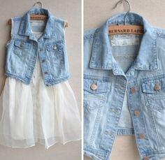 Summer Dress and Jean Vest
