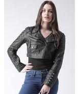 New Rock-star Bare Skin Half Silver Studded Brando Cowhide Leather Jacke... - $289.99+