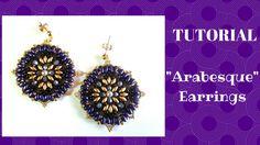 """Tutorial: come realizzare un paio di orecchini """"Arabesque"""" con superduo ..."""