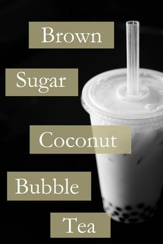 Brown Sugar Coconut Bubble Tea What I made the other day! It was glorious and delicious. Only my tapioca pearls were rainbow colored. Cocktails, Non Alcoholic Drinks, Fun Drinks, Yummy Drinks, Healthy Drinks, Beverages, Drinks Alcohol, Healthy Food, Boba Recipe