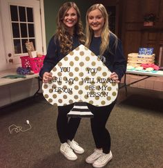 Big Little reveal. Greys anatomy/Kate Spade themed puzzle piece sorority