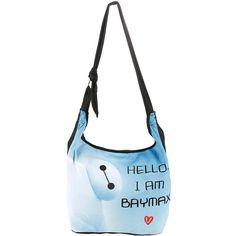 Disney Big Hero 6 Baymax Hello Hobo Bag Hot Topic ($20) ❤ liked on Polyvore featuring bags, handbags, shoulder bags, white hobo handbags, white hobo purse, disney, white purse and hobo shoulder bag