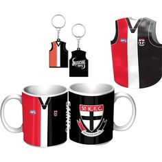 St Kilda Saints Guernsey Giftpack.  This Great Pack Features Guernsey Design Mug, Keyring, & Stubby Cooler.  To see the full range of AFL merch, visit www.shop.afl.com.au