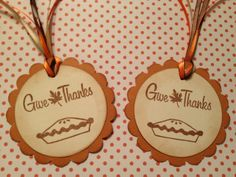 Give Thanks Thanksgiving Gift Tags Party Treats Gift by StuffDepot, $3.25