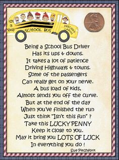 School Bus Driver cute saying.
