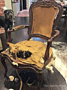 5 Steps To Reupholstering A Chair. Furniture RepairFurniture ...