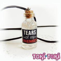 Bottle Necklace, Bottle Charm, Glass Bottle Pendant, Glass Vial Necklace, Geek Necklace, Potion Bottle, Gamer Necklace, Funny Gift, GOT Gift