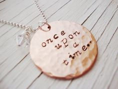 A story handstamped necklace once upon a time with by Lolasjewels, $23.00