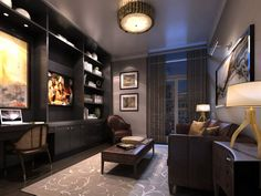 Perfect for work and relaxation - the study in PH 10. At 101 Erskine condos in Toronto.