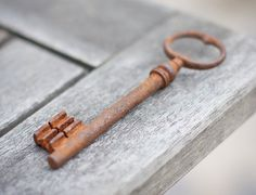 Vintage Big Skeleton French Key Rusty Patina Antique by frenchfelt,
