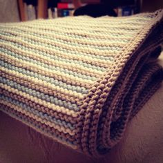 Knitted baby blanket | knitting | baby boy | handmade